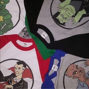 Classic Monster Baseball T-shirts